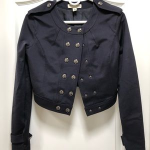 Burberry Cropped Military Jacket